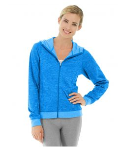 Helena Hooded Fleece-L-Blue