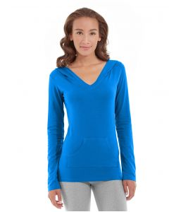 Eos V-Neck Hoodie-XS-Blue