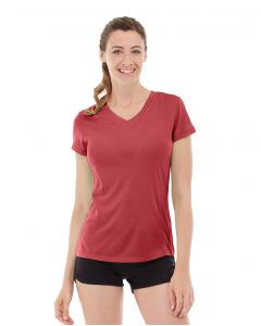Gabrielle Micro Sleeve Top-L-Red