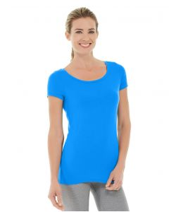 Tiffany Fitness Tee-XS-Blue